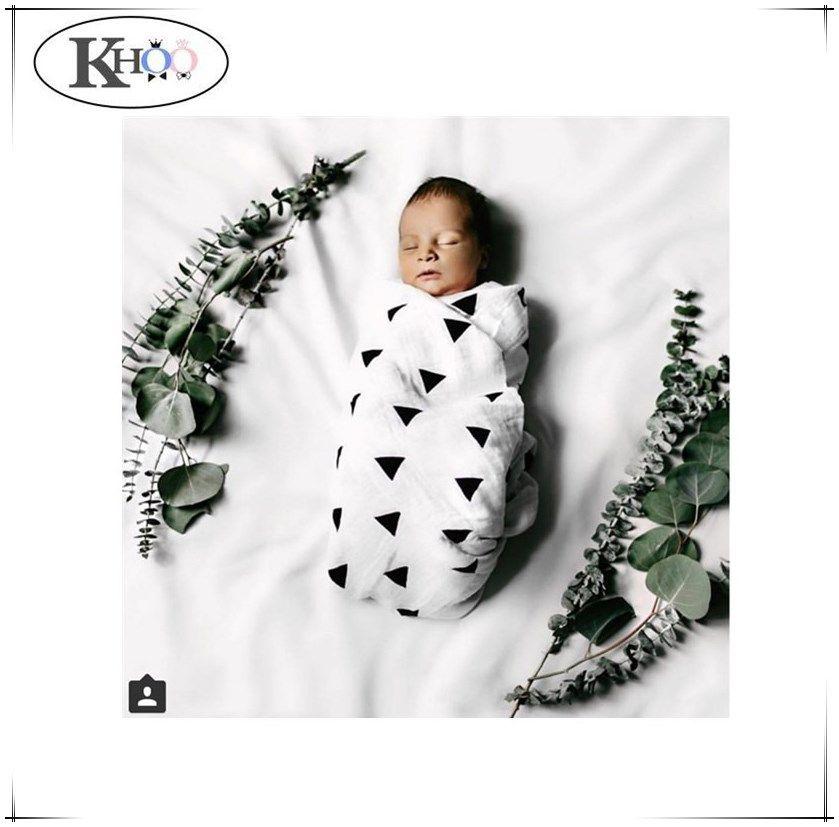 Baby Swaddling Blanket 100/% Cotton Muslin Newborn Infant Bath Towel 120*120cm