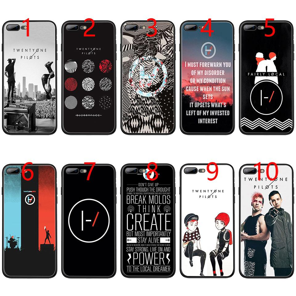 free shipping 68791 5f889 Twenty One Pilots 21 Pilots Soft Black TPU Phone Case for iPhone XS Max XR  6 6s 7 8 Plus 5 5s SE Cover