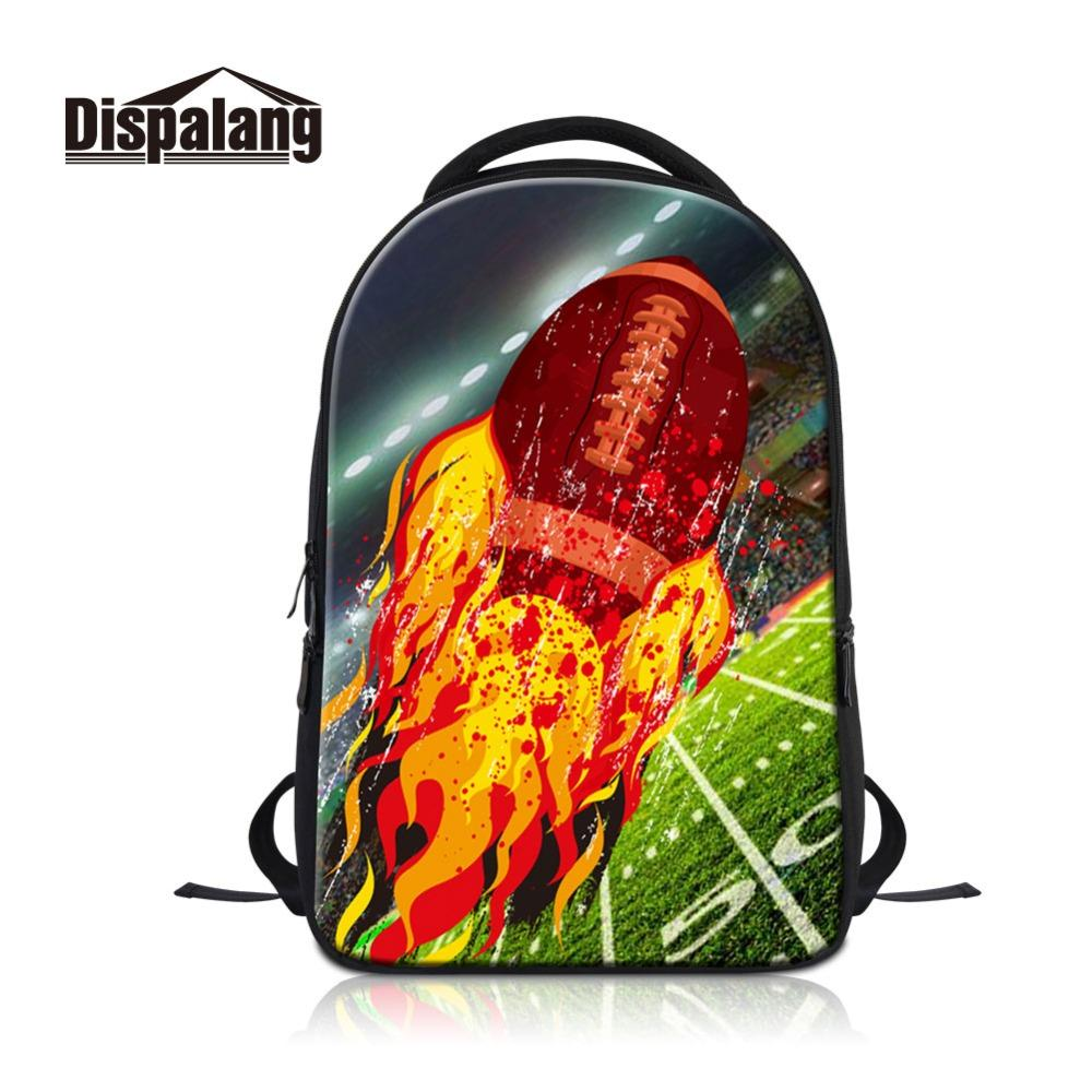 89006cc88a43 Купить Оптом Dispalang Практический Компьютер Рюкзак 3D Rugbyl Огонь ...