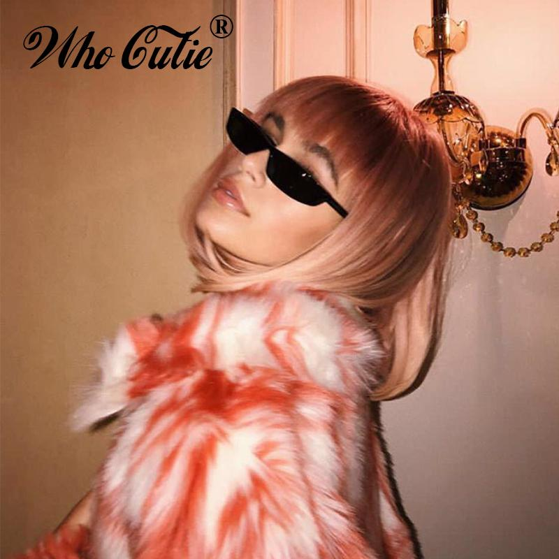 70a8e82f6f45 Who Cutie 90s Cateye Sunglasses For Women Vintage Small Rectangular Frame  Black Red Cat Eye Sun Glasses Retro Skinny Shades Om497b Best Sunglasses  Dragon ...