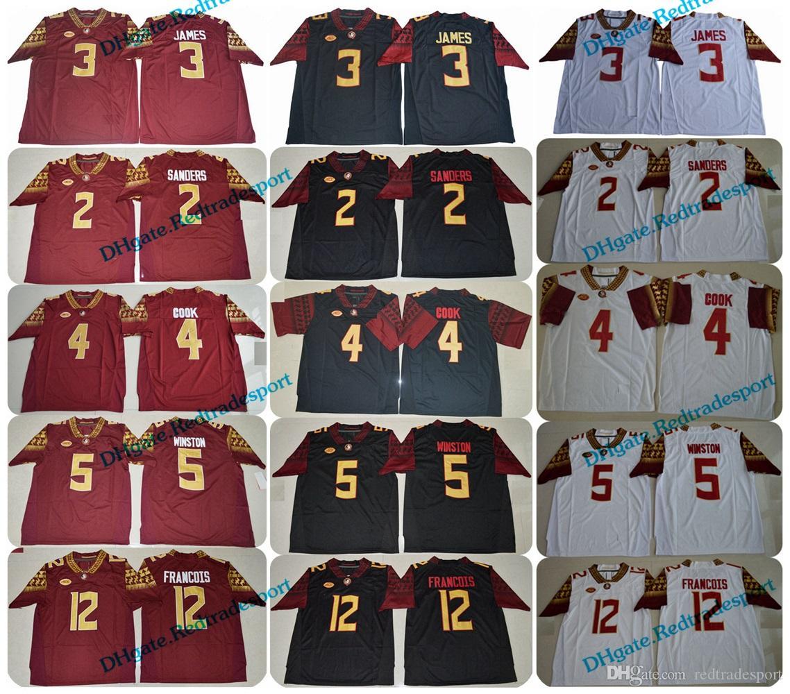 2019 2018 Florida State Seminoles 3 Derwin James 4 Dalvin Cook 5 Jameis  Winston 2 Deion Sanders 12 Deondre Francois FSU College Football Jersey  From ... d6026e186