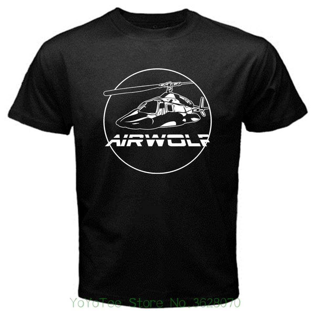 09068c840 Casual Fitness Men T Shirts Airwolf 1 Santini Hawke 80' ; S Tv Vintage Lost  Alcatraz T Shirt Black T Shirt Funny Funny T Shirt Designs From  Amesion2401, ...