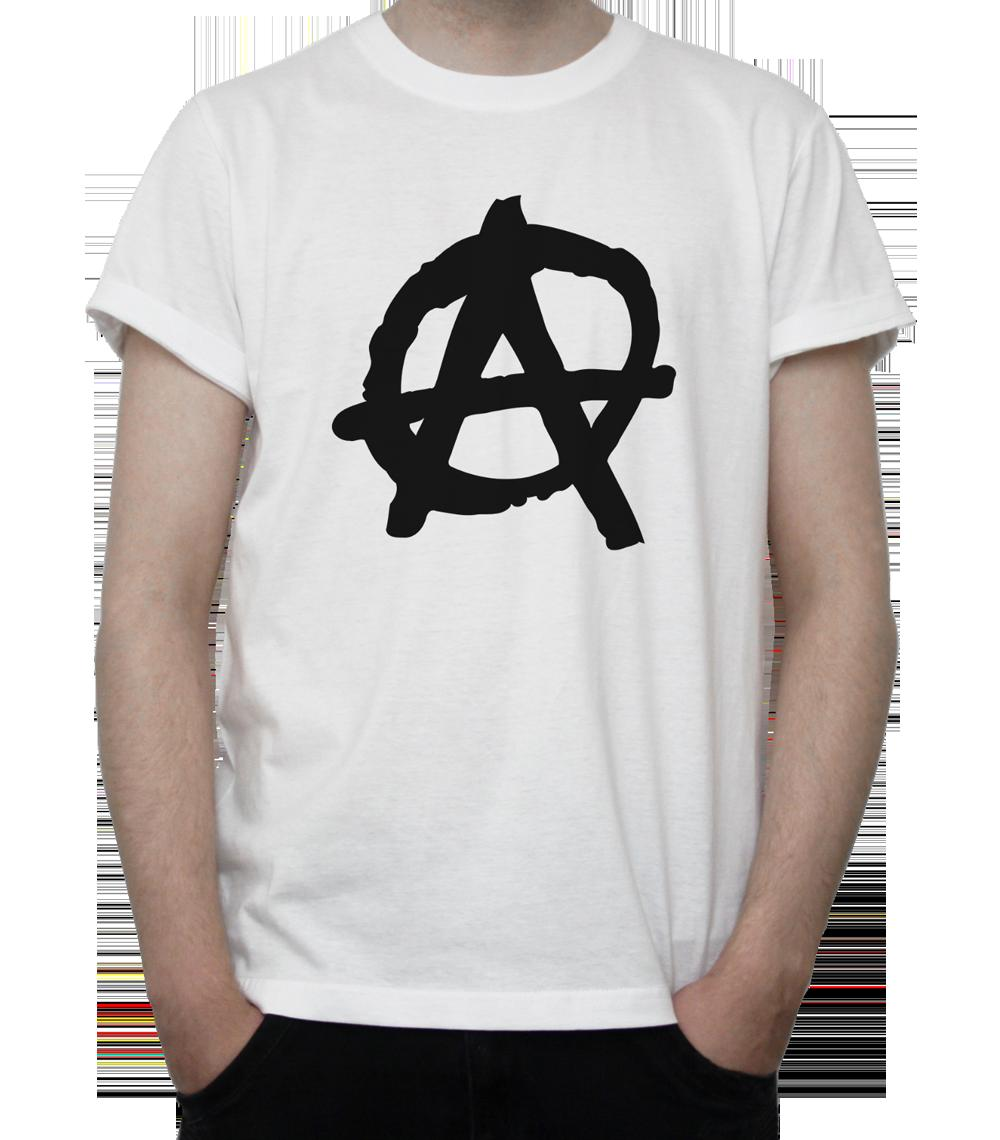 Anarchy Symbol T Shirt Bw Badge Riot Protest Rules Politic