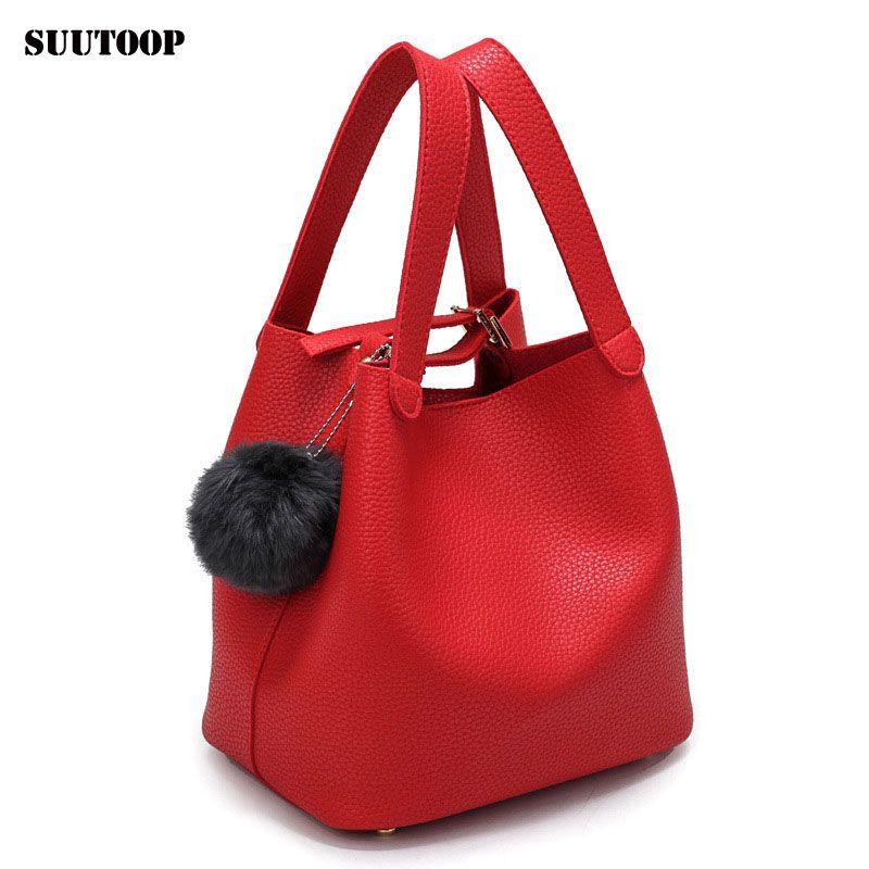 b3d8b9371be4 Women s Handbags Top-Handle Bags Fashion PU Leather Handbag Female ...