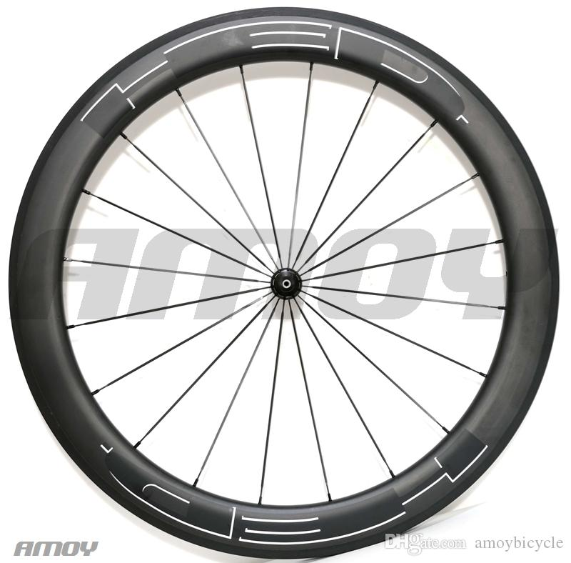 Livraison gratuite 23mm largeur HED peinture noire 38/50/60 / 88mm roues de vélo en carbone carbone 700C roues de vélo de route