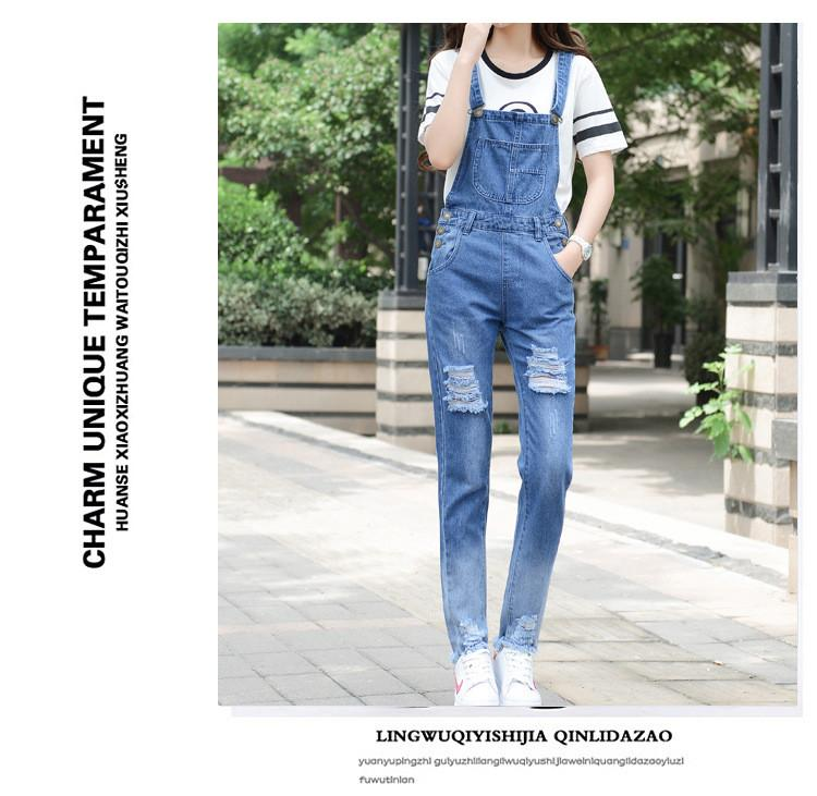 HCYO Summer Women Jumpsuit Pagliaccetti Skinny Denim Pagliaccetti Womens Jumpsuit Stile Preppy Body Pagliaccetto Solid Hole Jumpsuit Tute