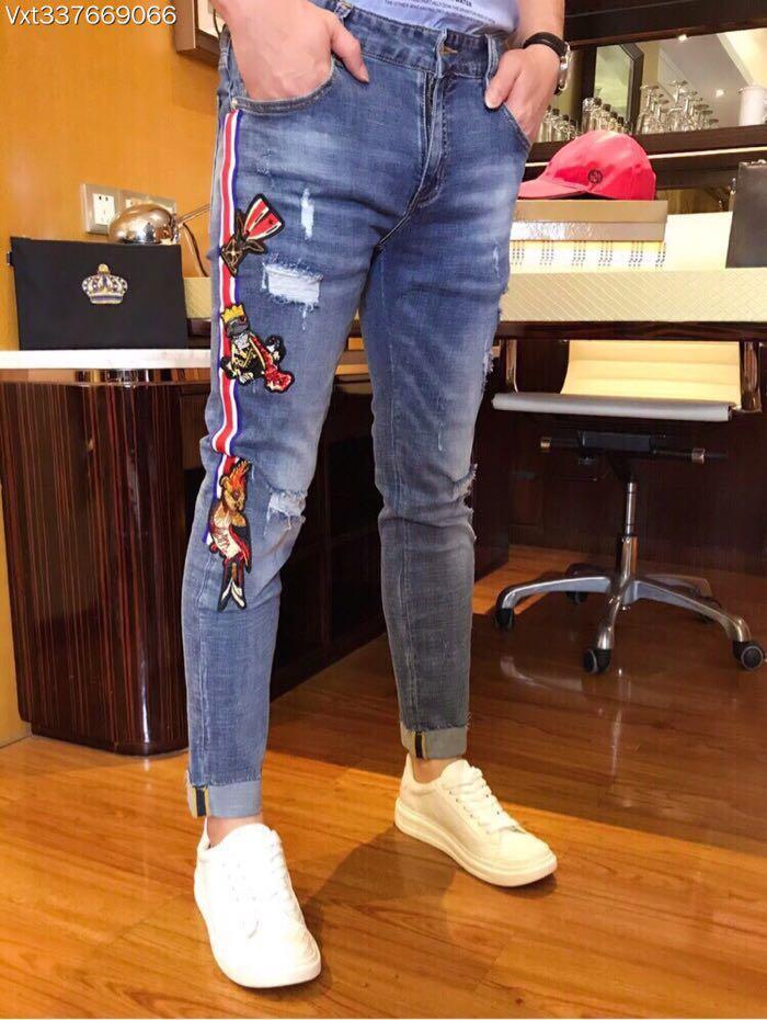 1084337a3364 Acquista WLD08880BA Jeans Da Uomo Alla Moda 2018 Marchi Di Lusso Europe  Style Designer Vintage Uomo Abbigliamento A $193.92 Dal Yujian18    DHgate.Com