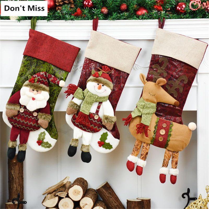 Outdoor Christmas Decorations Ornament Santa Claus Snowman Elk