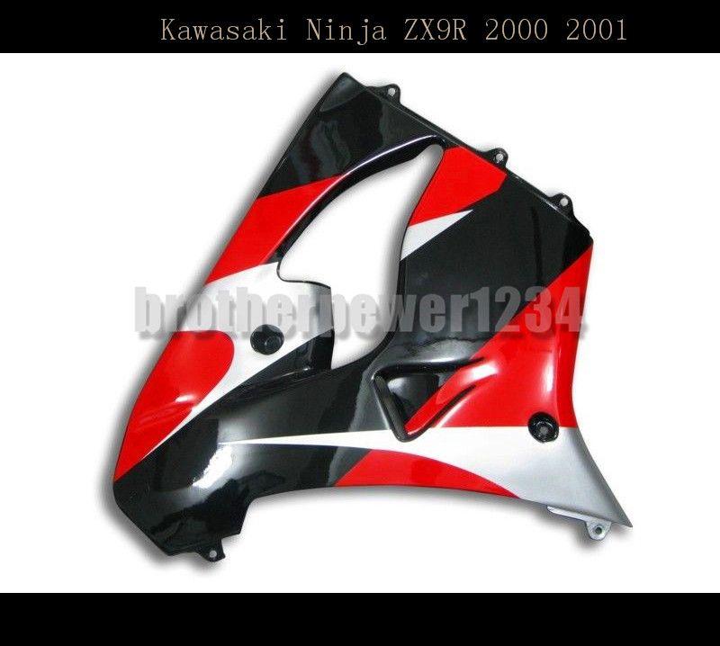 Juego de carenado de carrocería de moldeo por compresión pintado plástico ABS de motocicleta para Kawasaki Ninja ZX9R 2000 2001