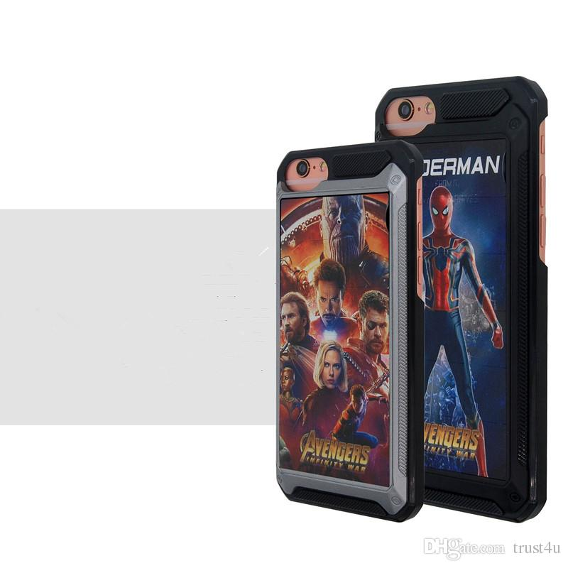 Smart Game Mobile Phone Cases Puzzle Classic Game Back Cover Case with Avengers Designs for iPhone 6/6s/7/8 Plus