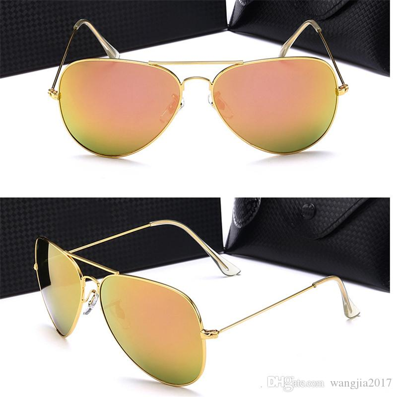 3ed85d133a15 Fashion Designer Sunglasses For Women Color Film Luxury Brand Sun Glasses  Eyewear With Metal Colors Mirror 50mm Glass Lenses With Cases Cheap  Sunglasses ...