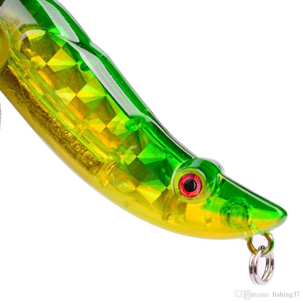 es 8 cm 15 g Lápiz de plástico cebos duros señuelos ganchos de pesca 6 # gancho cebo artificial pesca aparejos de pesca accesorios