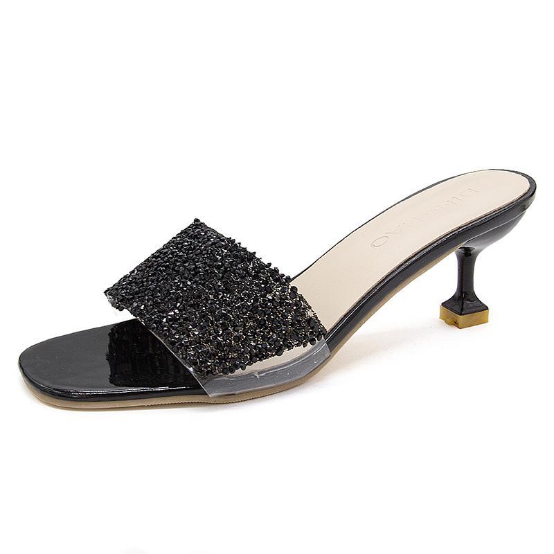 cb8b72610ca Summer Fashion Outdoor Open Toe Fine High Heel Rhinestone Sandals ...