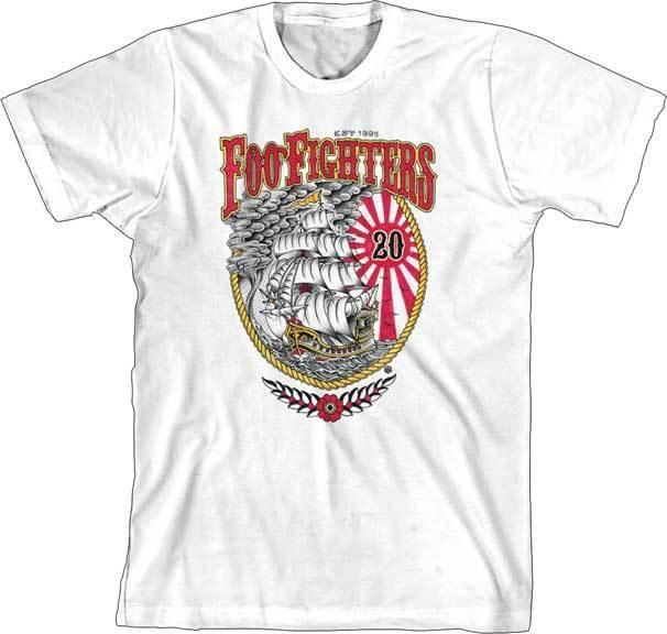 343dbddc FOO FIGHTERS 20th Anniversary Ship T SHIRT S 2XL New Official Live Nation  Merch Cool T Shirts Designs Make T Shirts Online From Lovetshirts29, ...
