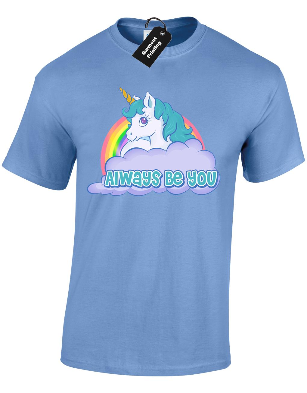 4be743e3 ALWAYS BE YOU MENS T SHIRT THE FUNNY INTELLIGENCE ROCK UNICORN CENTRAL  COLOUR Funny Unisex Long Sleeve T Shirts Vintage T Shirts From Young_ten,  ...