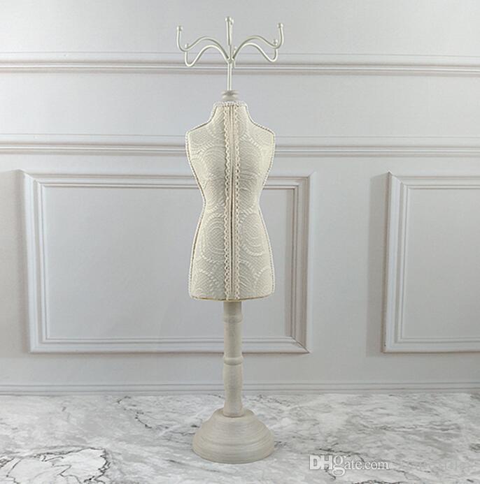 2019 Wholesale Vintage White Lace Earrings Ring Storage Rack Female