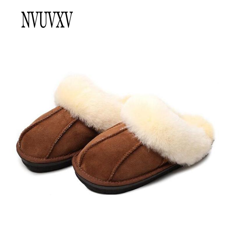 a7455c0f Sheepskin Wool One Cotton Slippers Fashion Home Women Shoes Soft Bottom Indoor  House Slipper Non Slip Women Bedroom Shoes Sh218 Moccasins Thigh High Boots  ...