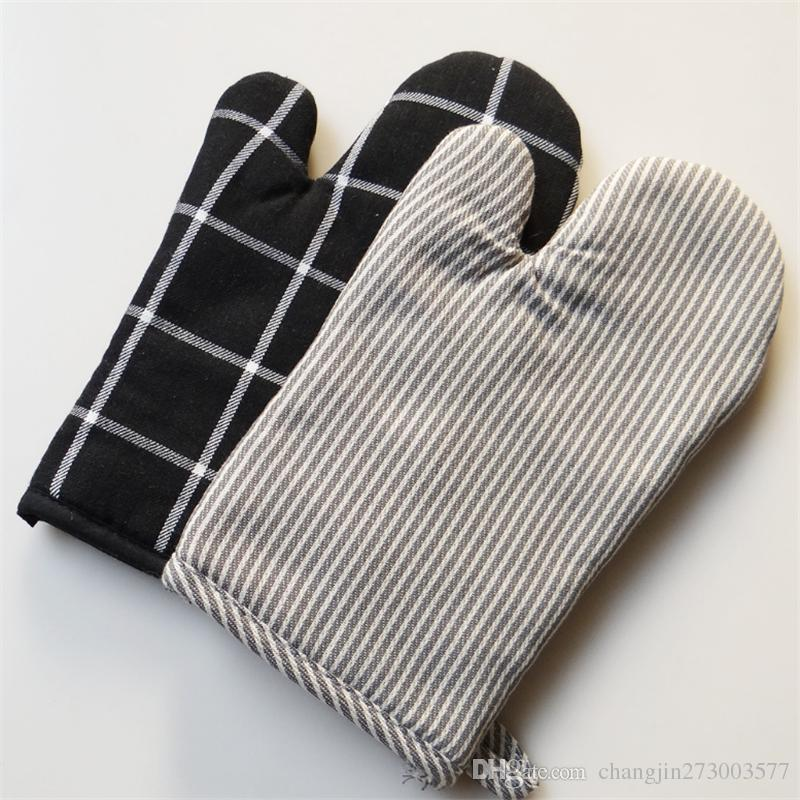 2018 New Cotton Oven Mitts Heat Protective Glove Kitchen Gloves