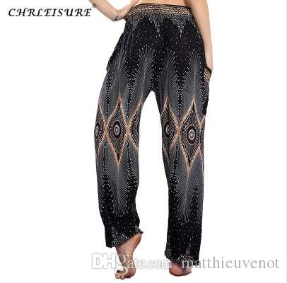 d7650851ce00c 2019 CHRLEISURE Autumn Boho Harem Pants Women Bohemian Beach Pant Plus Size  Hippie Pants Print Trousers Women With Side Poecket From Matthieuvenot