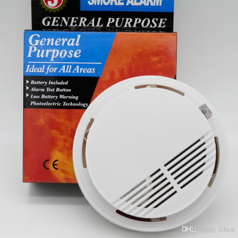 Wireless Independent Smoke Fire Detector Photoelectronic Temperature Sensor Inside Fire Alert Security Alarm For Home Kitchen Heat Detector