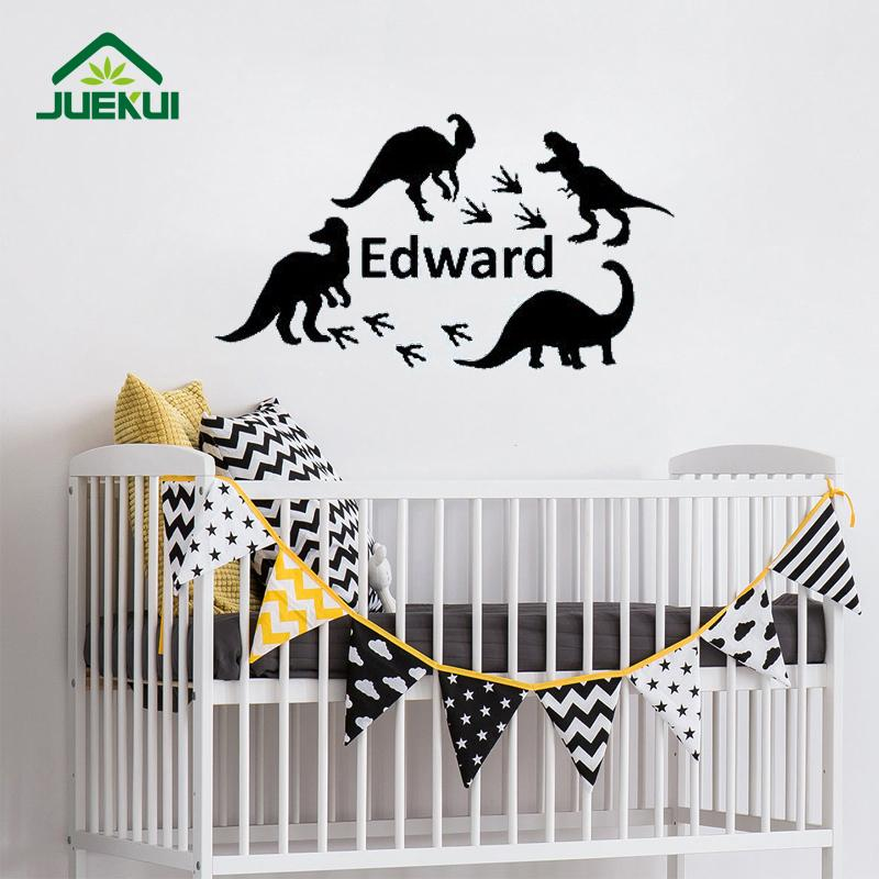 dinosaur removable wall stickers for nursery kids room boys home