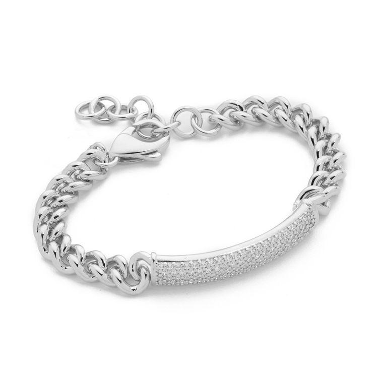 Bijoux Bangles 316 L Titanium Stainless Steel Crystal Bangles Chain Bracelets Fashion Jewelry For Women Men