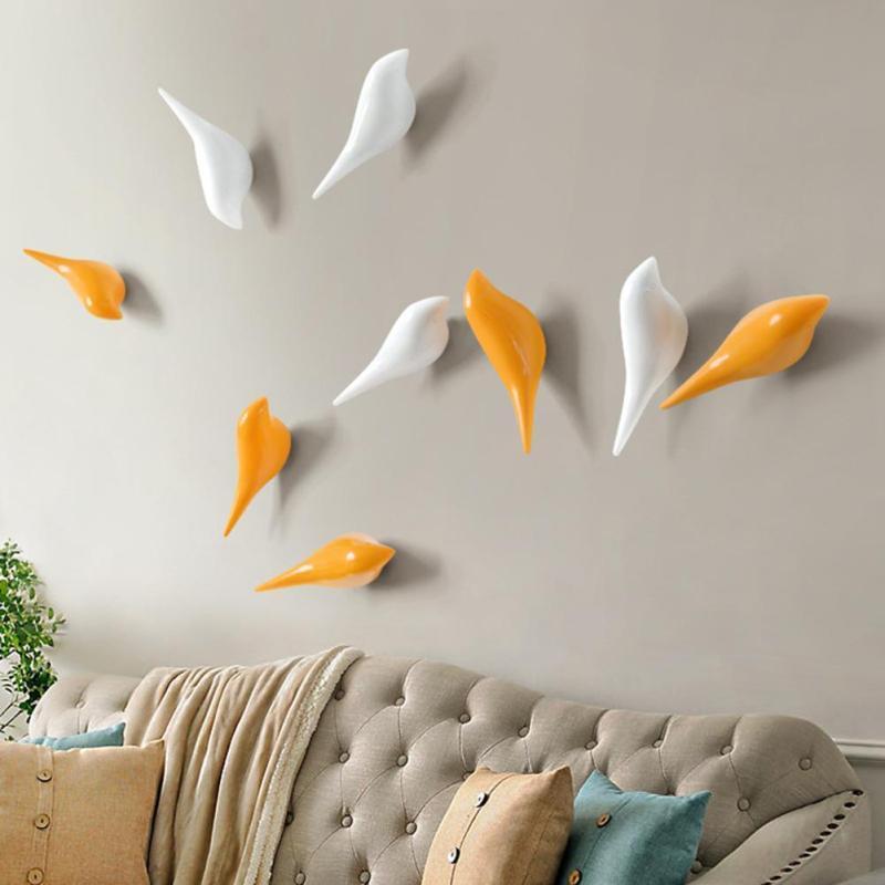 Creative Bird Shape Wall Hooks Home Decoration Resin Wood Grain Storage Rack Bedroom Door After Coat Hat Hanger G30