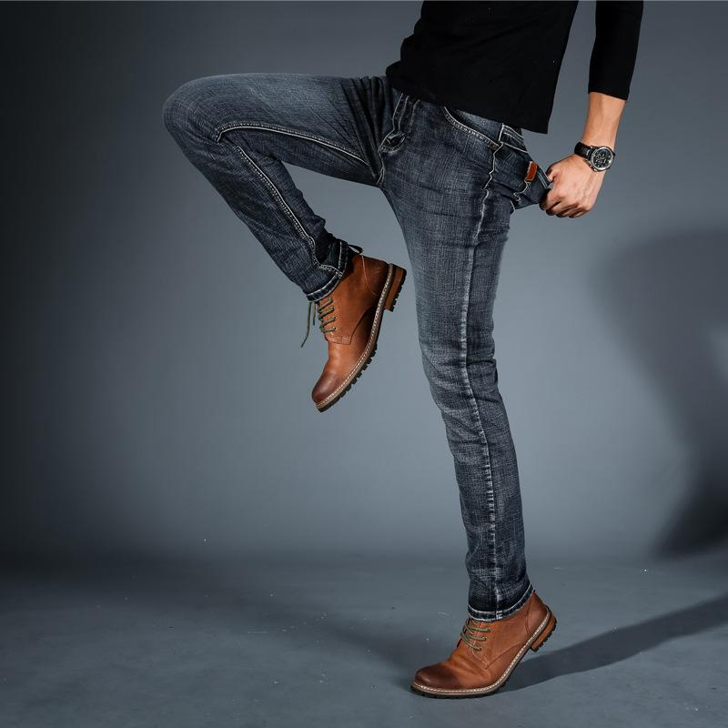 9c9d7b8f026 2019 Male Smart Casual Jeans Spring 2018 Fashion New Arrival Perfect  Elastic Slim Fit Stretch Full Length Denim Jeans Pants For Men From  Kennethy