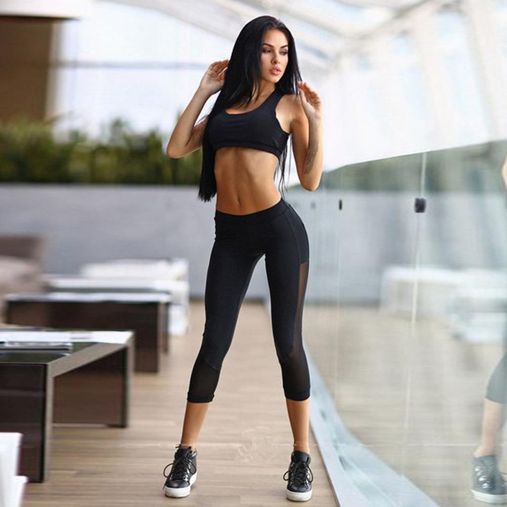 13fa6dea8182 2019 Women Sets Bra+Pants Fitness Workout Clothing And Women S Sports Girls  Slim Leggings Tops Suit For Female From Griseldala