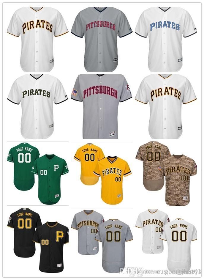 2019 Custom Men Women Youth Pirates Jersey  00 Any Your Name And Your  Number Home Black Yellow Grey White Kids Girls Baseball Jerseys From  Goodtshirt01 654025303