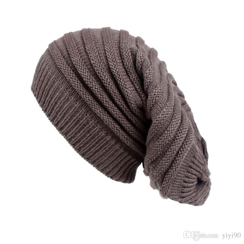 New Stretch Winter Hat Warm Knit Wool Long Tube Cap Beanie Sleep Chemo  Turban Headwear Cancer Patients Hair Accessories Cool Beanies Beanie Caps  From Yiyi90 ... 33339ea73c0