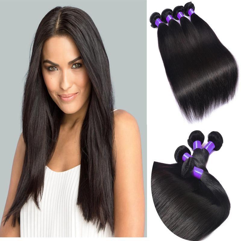 8a Unprocessed Brazilian Straight Hair Weft Cheap Indian Hair