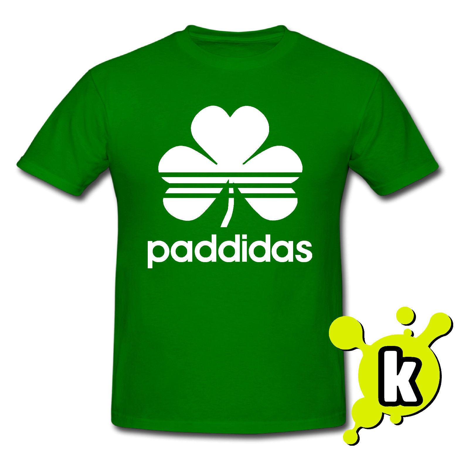dc403a540 Paddidas Irish Parody Funny Shamrock St. Patricks Paddys Day T Shirt Best  Funny Shirts Funny Print Shirts From Down2lift, $11.01| DHgate.Com