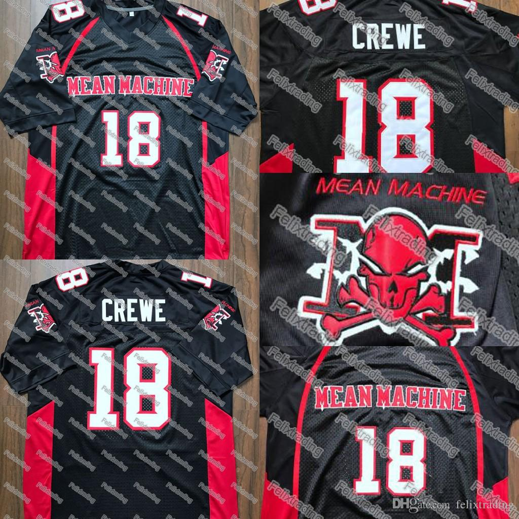 9b11a033cab 2019 Paul Crewe #18 Mean Machine Jersey Paul Crewe #18 Stitched Movie Jersey  Men Black From Felixtrading, $16.26 | DHgate.Com