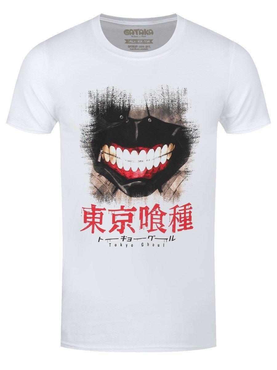 303c57908c7 Tokyo Ghoul Gantai Smile Men S White T Shirt 2018 Fashion 100% Cotton Slim  Fit Top 2018 New Summer Men Hot Sale Fashion Long Sleeve T Shirts Vintage T  ...
