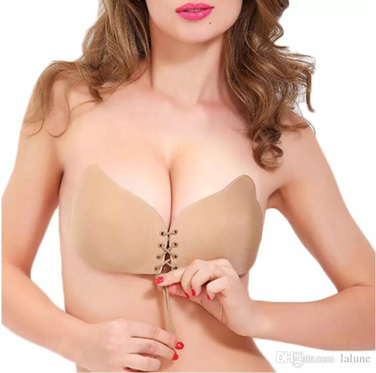 88bcebb534 Women s Super Push Up Invisible Bra Sexy Bralette Backless Silicone ...