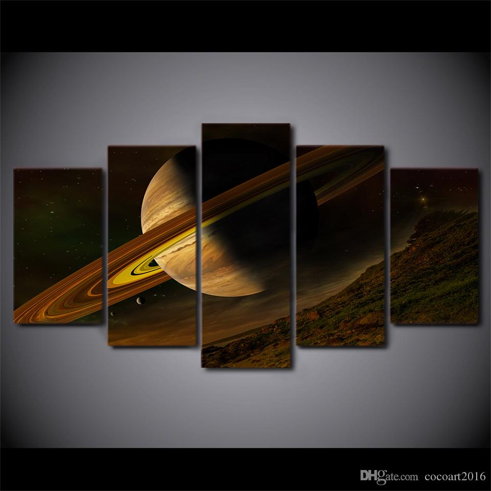 HD Printed Canvas Art Science Space Fantasy Planet Canvas Painting Wall Pictures for Living Room ny-7452C