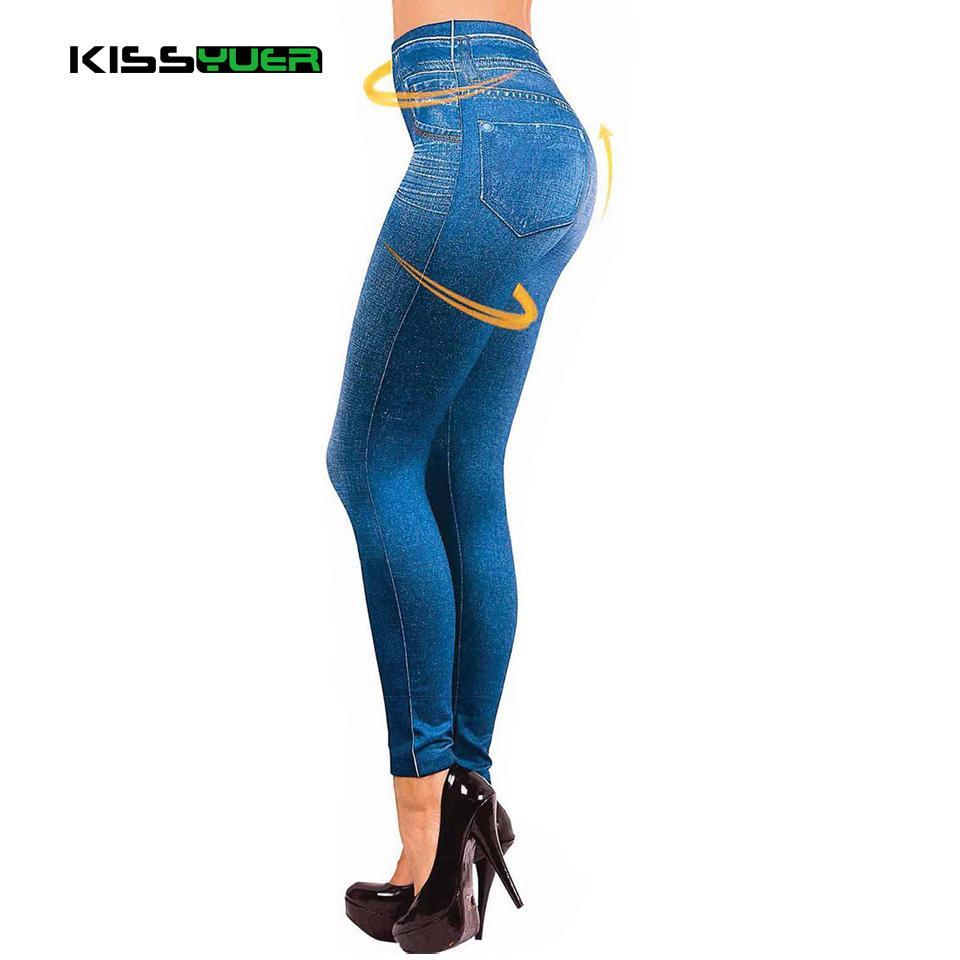 1df932e959a 2019 Dropship Leggings Jeans For Women Denim Pants With Pocket Slim Jeggings  Fitness Plus Size Leggins S XXL Black Gray Blue KL0055 From Xiatian8