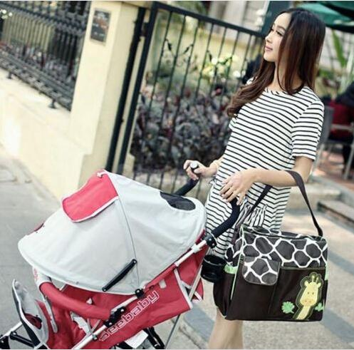 New large Capacity Mummy Mags Hot Sale Cartoon Pattern Multi Function Baby Diaper Bags Tote Organizer Nappy Bolsas H1317