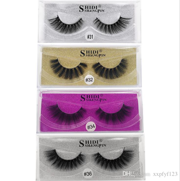 3d Mink Lashes Thick Real Mink Hair False Eyelashes Natural For