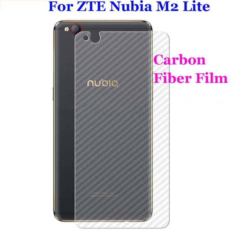5PACK 3D Clear Matte Rear Carbon Fibre Back Film For ZTE Nubia M2 Lite N2 N1 NX541J M2 Screen Protector (Not Tempered Glass)