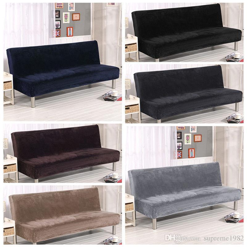 Cool Armless Sofa Bed Slipcover Cover Stretch Cusion Soft Couch Protector Easy Fit Download Free Architecture Designs Scobabritishbridgeorg