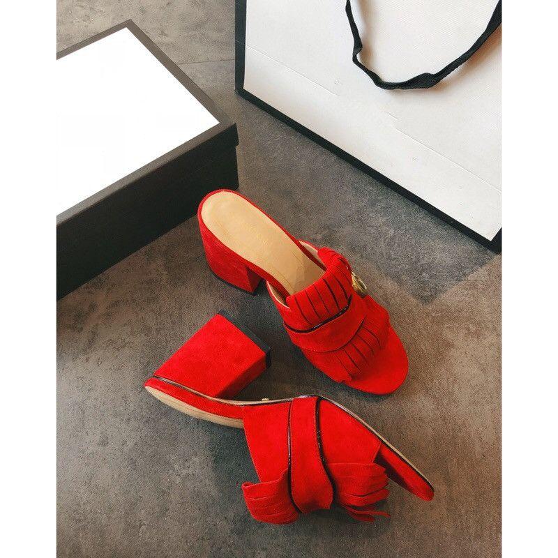 Nuevas mujeres Beach Slippers de cuero Slingback Shoes Bombas de tacón alto Designer Summer Women Open Toe Sandals 35-40