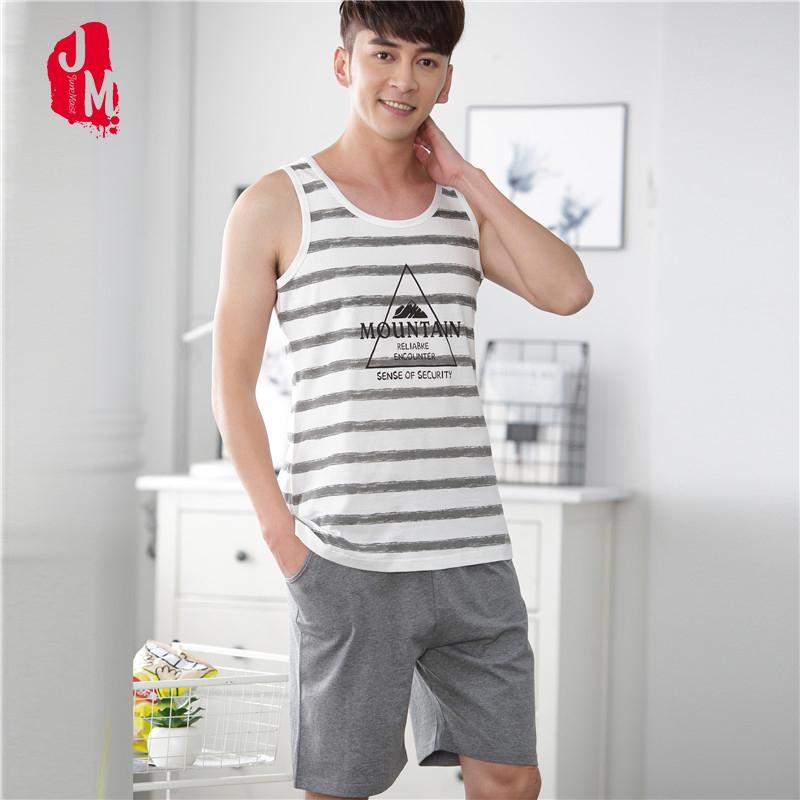 bf2a2accb5 2019 Coon Men Pajama Set Striped Shorts Sleepwear Men Suit Vest Pyjamas  Men s Pajamas Sets Coon O Neck Sleepwears Men s Summer XL From Yukime