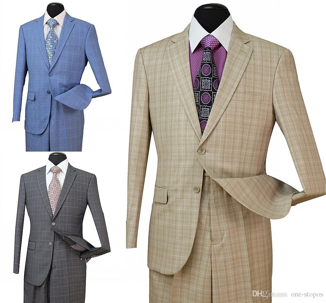 9c4b928f9ceceb STOCK IN USA 2018 Tuxedos Suits Men Wedding Suit Slim Fit Business Groom  Suit Set Dress Suits Tuxedo For Men Wedding (Jacket+Pants) ST005