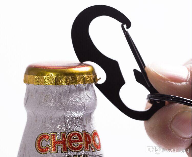 Multifunction EDC Carabiner Keychain Bottle Opener Waist Belt Clip Anti-lost Key Holder Buckle Keyring Outdoor Tools Backpack Molle Hooks