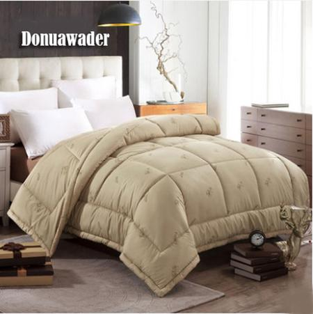 2019 200230 Camel Hair Winter Comforter Quilted Top Blanket Queen