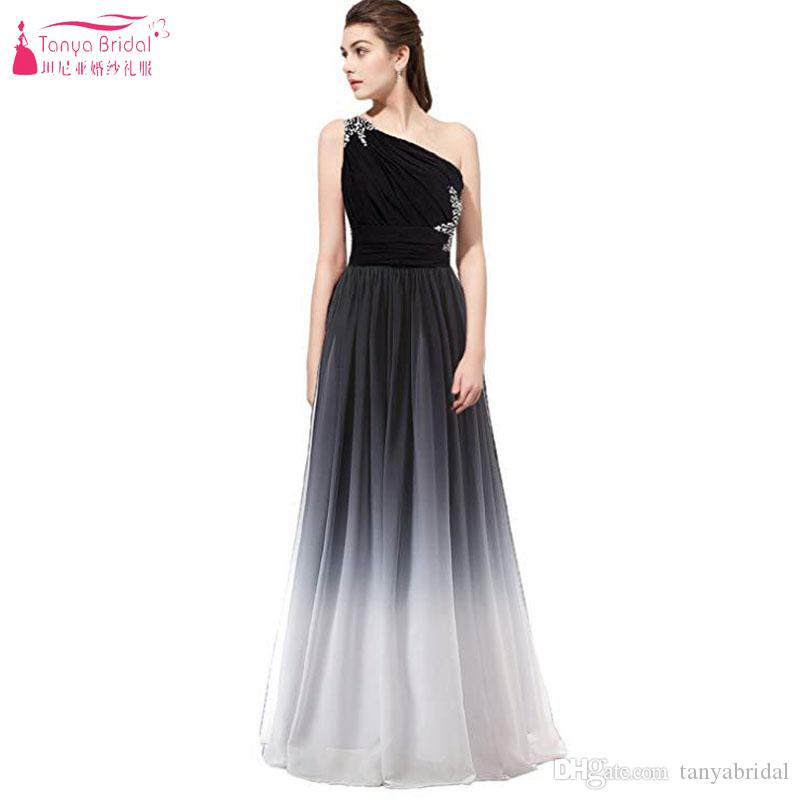 In Stock Long Party Dresses Sexy Gradient Color Ombre Strapless Backless  Chiffon Cheap Evening Gowns Bridesmaid Prom Dresses Full Length Dresses  Girls ... e43741a7e00f