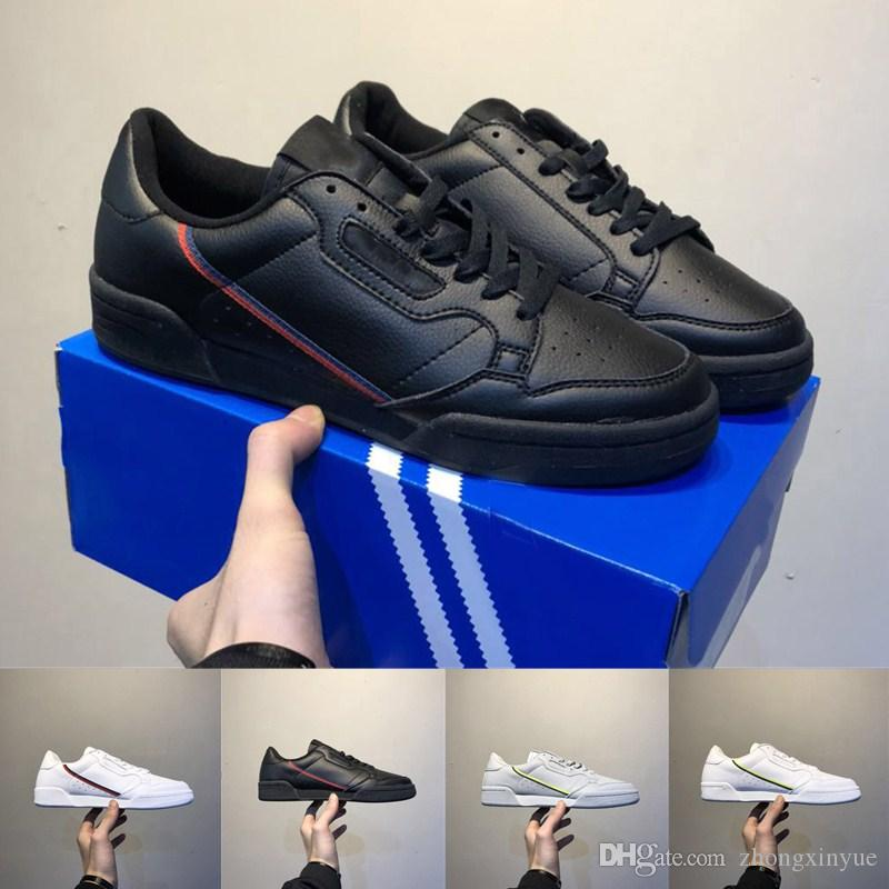 d66fc68544f8 2018 New Discount Continental 80 Running Shoes Men Aero Blue Core Black OG  White Grey High Quality Mens Trainers Zapatos Casual Sneakers Racing Shoes  Good ...