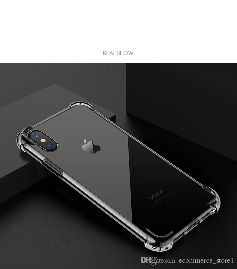Custodia Trasparente Iphone X Custodia Trasparente Custodie cellulare TPU trasparente Cover posteriore trasparente Coque iPhone 8 7 6 6S Plus